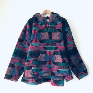 Vintage 90s Tribal Navajo Fuzzy Pullover (L)